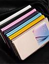 Для Кейс для  Samsung Galaxy с окошком Кейс для Чехол Кейс для Один цвет Искусственная кожа Samsung S6 edge plus