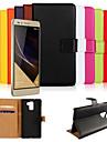 caso genuíno carteira de couro para Huawei honra 7 (cores sortidas)
