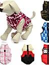 Коты Собаки Плащи Жилет Красный Зеленый Синий Розовый Розоватый Одежда для собак Зима Весна/осень Черепа камуфляжНа каждый день Сохраняет