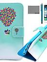 아이폰 6 / 6S에 대한 화면 보호기 및 USB 케이블, 스타일러스와 코코 fun® 풍선 여행 패턴 PU 가죽 케이스