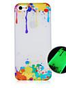 페인트 패턴 빛나는 전화 케이스는 다시 iphone5c에 대한 케이스를 커버