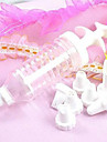 Cream Tube Decorating Mouth Decoration Tools Piping Nozzle Puffs Gun(1 set)