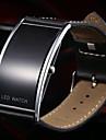Men's Fashion Slim Digital LED Casual Watch Leather Strap Wristwatch Wrist Watch Cool Watch Unique Watch