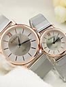 Masculino Mulheres Casal Relógio Elegante Relógio de Moda Quartzo Lega Banda Prata Prata