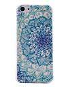 metade padrão de flor de material TPU transparente caso de telefone celular fina e macia para iphone 5c