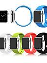 애플 시계에 대 한 스포츠 시계 밴드 38mm 42mm 실리콘 시계 밴드 (커넥터 포함)