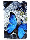 Pour Samsung Galaxy Coque Porte Carte Avec Support Clapet Motif Coque Coque Intégrale Coque Papillon Cuir PU pour SamsungTab 4 10.1 Tab 4