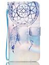Pour Samsung Galaxy Coque Porte Carte Portefeuille Avec Support Clapet Coque Coque Intégrale Coque Attrapeur de rêves Cuir PU pour Samsung