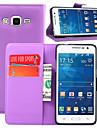 Pour Samsung Galaxy Coque Porte Carte / Portefeuille / Avec Support / Clapet Coque Coque Intégrale Coque Couleur Pleine Cuir PU Samsung