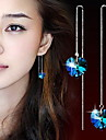 여성 드랍 귀걸이 하트 크리스탈 합금 Heart Shape 보석류 제품 일상 캐쥬얼 스포츠
