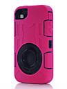 trois anti, imperméable à l'eau, la résistance baisser, cas antipoussière téléphone fixe de silicone protéger pour iPhone 4 / 4S