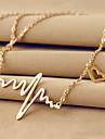 Ожерелье Ожерелья с подвесками Бижутерия Свадьба / Для вечеринок / Повседневные Мода Титановая сталь Золотой 1шт Подарок