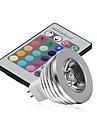 GU5.3(MR16) Lampe LED de Scène MR16 1 LED Haute Puissance 250 lm RVB Gradable Commandée à Distance Décorative DC 12 V 1 pièce