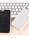 простые черно-белые цвета матовые случаи маленькая решетка для iphone6s TPU 6 плюс