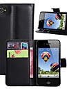 Fashion Wallet Case Flip Leather Case Cover Stand With Card Holder for iPhone 4 4s (Assorted Colors)