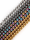 Beadia 1Str(Approx 100pcs) Natural Stone Beads 4mm Round Hematite Beads 4 Colors U-Pick