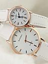 Мужской Женские Для пары Нарядные часы Модные часы Кварцевый PU Группа Черный Белый Коричневый Белый Черный Кофейный