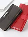 Pour Coque iPhone 6 Coques iPhone 6 Plus Portefeuille Porte Carte Avec Support Clapet Coque Coque Intégrale Coque Couleur Pleine DurVrai