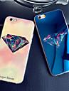 diamantes luxuosos colorido luz azul blu-ray refletivo TPU macio tampa da caixa para iphone 6 mais / 6s mais