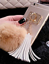 For iPhone 7 Plus Luxury Rabbit Hair Ball Tassel Pendant TPU Cases for iPhone 6s 6 Plus SE 5s 5