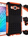 Для Кейс для  Samsung Galaxy Защита от удара / со стендом Кейс для Задняя крышка Кейс для Армированный PC Samsung J7 / J5 / J1 / E7 / E5