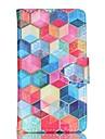 Para Samsung Galaxy Capinhas Porta-Cartão / Carteira / Com Suporte / Flip Capinha Corpo Inteiro Capinha Estampa Geométrica Couro PU