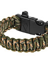 outdoor multi-purpose pulseira paracord sobrevivência com iniciador de fogo e apito de segurança