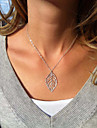 Women's Pendant Necklaces Silver Plated Alloy Leaf Silver Jewelry Wedding Party Daily