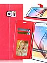 용 삼성 갤럭시 케이스 지갑 / 카드 홀더 / 스탠드 / 플립 케이스 풀 바디 케이스 단색 인조 가죽 Samsung S6 edge plus / S6 edge / S6 / S6 Active / S5