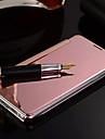 용 삼성 갤럭시 케이스 거울 / 플립 케이스 풀 바디 케이스 단색 PC Samsung S7 edge / S7 / S6 edge plus / S6 edge / S6