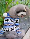 Chien Combinaison-pantalon Pyjamas Bleu Marron Incarnadin Gris Vêtements pour Chien Hiver Printemps/Automne Motif de flocon de neige