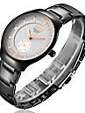 bosck relógio dos homens com ultra-fina liga de tungstênio preto relógio de quartzo impermeável