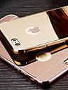 Pour Coque iPhone 6 Coques iPhone 6 Plus Plaqué Miroir Coque Coque Arrière Coque Couleur Pleine Dur Métal pouriPhone 6s Plus/6 Plus