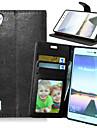 Corpo Completo carteira / Entrada de Cartão / com suporte Cor Única Couro Ecológico Duro Case Capa Para HuaweiHuawei P8 / Huawei P8 Lite