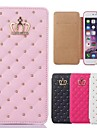 iPhone 7 Plus Queen's Crown Grid Pattern PU Leather Cover for iPhone 6s 6 Plus