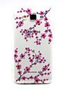 Pour Samsung Galaxy Coque Transparente Coque Coque Arrière Coque Fleur TPU Samsung J5