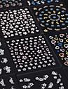 Cheap Wholesale 30 Sheet/lot 3D Design Tip Nail Art Nail Sticker Nail Decal Manicure Mix Random Color Nail Decoration