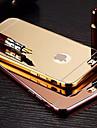 chapeamento espelho de volta com a caixa do telefone armação de metal para iphone 6plus / 6s mais (cores sortidas)