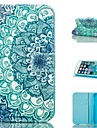 Lotus  Design PU Full Body Case with Stand with Card Slot for iPhone 5/5S