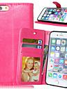Para Capinha iPhone 6 / Capinha iPhone 6 Plus Carteira / Porta-Cartão / Com Suporte / Flip Capinha Corpo Inteiro Capinha Cor Única Rígida