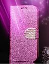блеск алмазов кожа сотовый телефон случае слот для карт бумажник обратно чехлы для iphone 5с