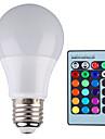 5W E26/E27 Круглые LED лампы A60(A19) 1 Высокомощный LED 500 lm RGB Регулируемая / На пульте управления / Декоративная AC 85-265 V 1 шт.