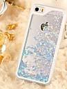 Pour Coque iPhone 5 Liquide Transparente Coque Coque Arrière Coque Brillant Dur Polycarbonate pour iPhone SE/5s/5