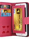 де дзи магнитного 2 в 1 люкс кожаный бумажник случай откидная крышка + тариф слот + фоторамка телефон случай для IPhone 5 / 5s