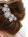 Women's Diamond Flower Hair Stick Comb Bob (10*8.5CM)