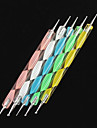 5pcs 2-way nail art qui parsèment vagues colorées gérer kits outils dot