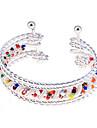 Korean Lovely Resin Beads  Spring Alloy Cuff Bracelet
