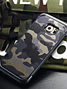 For Samsung Galaxy Case Shockproof Case Back Cover Case Camouflage Color PC Samsung S6 edge plus / S6 edge / S6 / S5