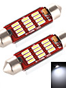 yobo 5W 400lm feston 41-42mm 12 * 4014 SMD LED pour ampoule voiture de direction / liseuse - (2 pcs / DC 12-24)