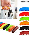 1шт многофункциональный силиконовые сумка ручка продуктовый носитель держатель с брелок отверстие (случайный цвет
